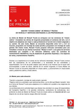 DE PRENSA - Renault Trucks