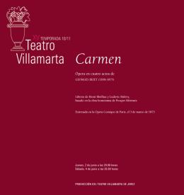 libreto: Carmen - La Arcadia Jerez