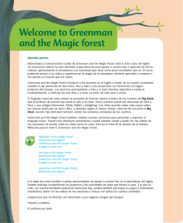 Welcome to Greenman and the Magic forest