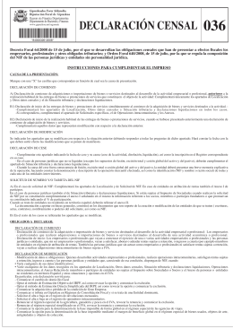 Modelo 036: Declaración Censal