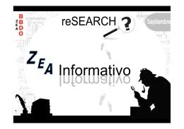 Research ZEA Informativo - Septiembre