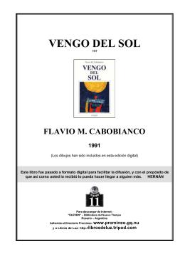 Cabobianco, Flavio - Vengo del Sol