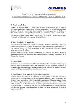 Beca Cirugía Laparoscópica Avanzada Corporació Sanitaria Clínic
