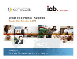 Estado de la Internet – Colombia