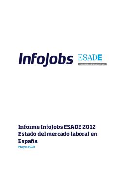 Informe InfoJobs ESADE 2012 Estado del mercado laboral en España