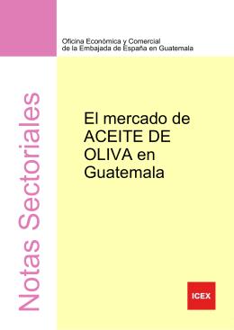 Nota Sectorial Aceite de Oliva en Guatemala 2008