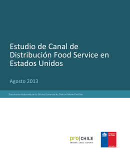 SEP - 2013 Estudio de Canal de Distribución – Food Service en