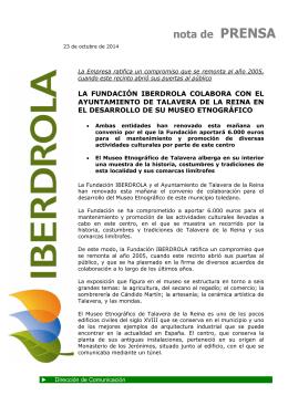 Colaboración Fundacion Iberdrola