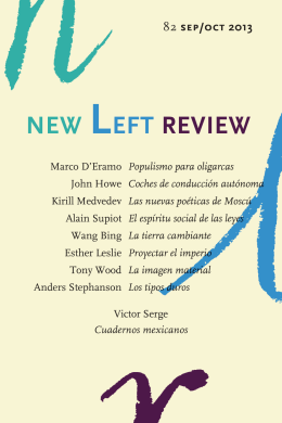 new left review 82 - Traficantes de Sueños