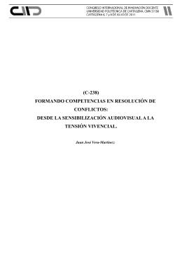 (c-238) formando competencias en resolución de conflictos