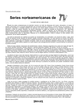 Series norteamericanas de TV.