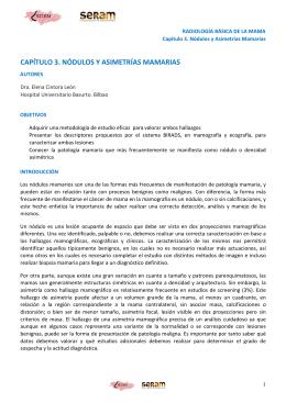 CAPÍTULO 3. NÓDULOS Y ASIMETRÍAS MAMARIAS