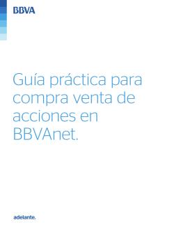 Guía práctica para compra venta de acciones en BBVAnet.