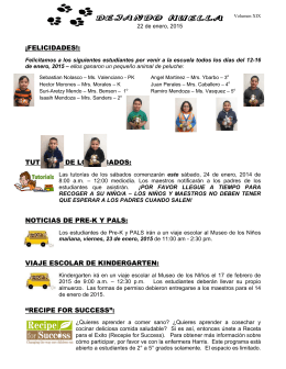 "viaje escolar de kindergarten: ""recipe for success"""