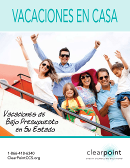 Vacaciones en casa - ClearPoint Credit Counseling