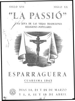 ESPARRAGUERA - Corpus Passionarium