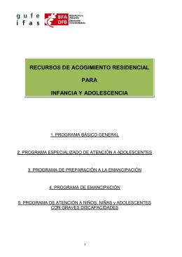 recursos de acogimiento residencial para infancia y adolescencia