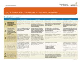 Lograr la seguridad financiera es un proceso a largo plazo
