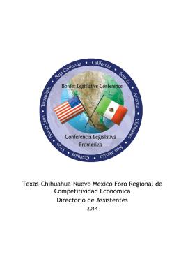 Texas-Chihuahua-Nuevo Mexico Foro Regional de Competitividad