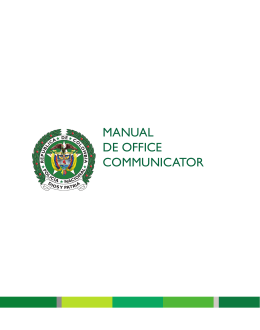 MANUAL DE OFFICE COMMUNICATOR