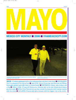 méxico city monthly 2006 vivamexicocity.com