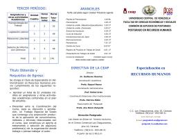 Especialización en RECURSOS HUMANOS