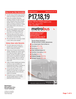 P17,18,19 - Washington Metropolitan Area Transit Authority