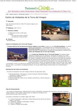(Centro de Visitantes, Centro de Interpretaci\363n, Museo de Caza