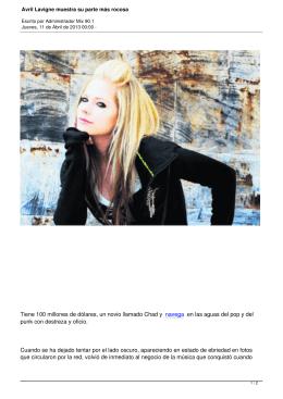 Avril Lavigne muestra su parte más rocosa