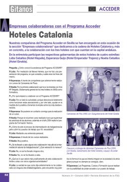 Empresas colaboradoras en el Programa Acceder. Hoteles Catalonia