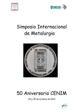Simposio Internacional de Metalurgia 50 Aniversario