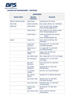 listado de proveedores - protesis