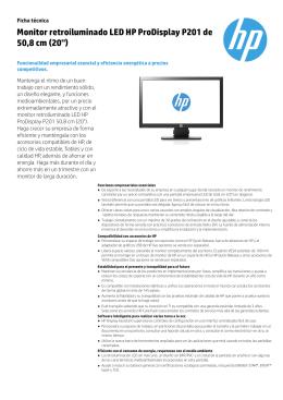 Monitor retroiluminado LED HP ProDisplay P201 de 50,8 cm (20