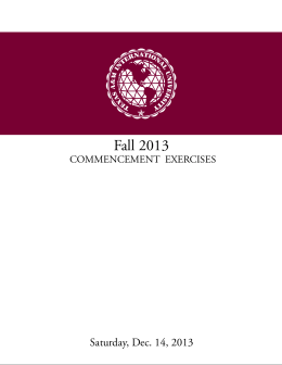Commencement Program - Texas A&M International University