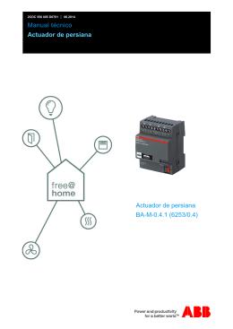 Manual técnico Actuador de persiana Actuador de persiana BA