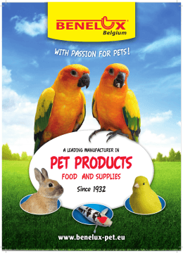 PET PRODUCTS - benelux