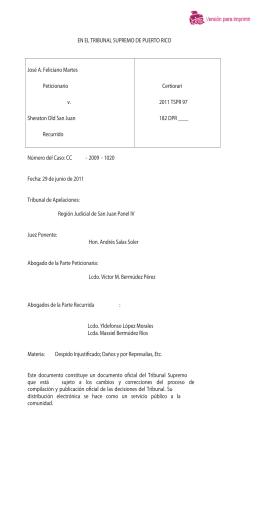 2011 TSPR 97 - Rama Judicial