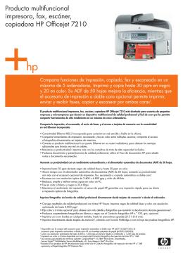 Producto multifuncional impresora, fax, escáner, copiadora HP