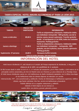 Hotel AMURA Alcobendas - Universidad Europea de Madrid