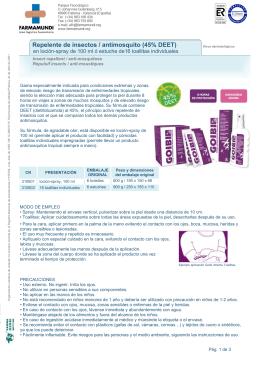 Repelente de insectos / antimosquito (45% DEET)