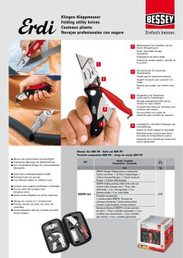 Klingen-Klappmesser Folding utility knives Couteaux pliants