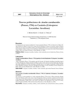 Nuevas poblaciones de Aesalus scarabaeoides (Panzer, 1794) en