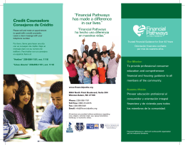 "Credit Counselors ""Financial Pathways has made a difference in our"