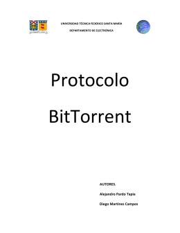 Protocolo BitTorrent - Departamento de Electrónica