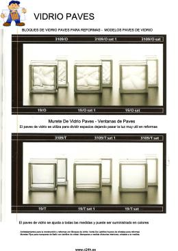 Bloque Vidrio Paves Modelos