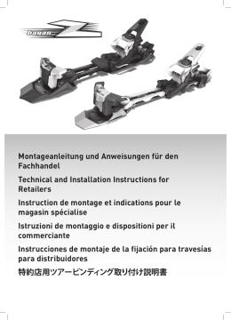 Montageanleitung und Anweisungen für den Fachhandel