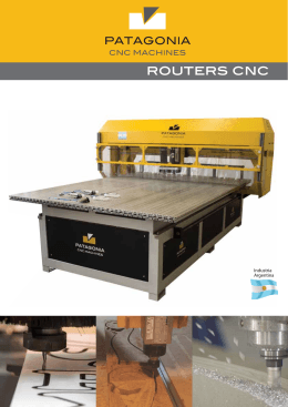 Folleto 2015 II ch - Patagonia CNC Machines