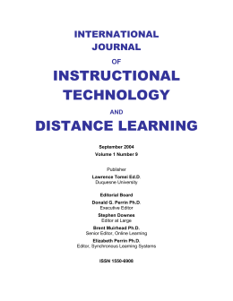 Acrobat File for September 2004 - Distance Learning - ITDL