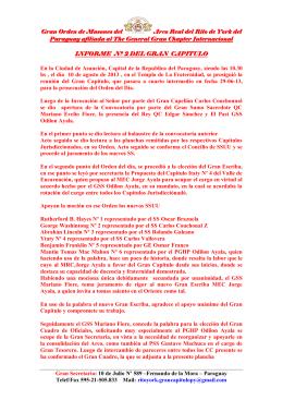 INFORME Nº 2 DEL GRAN CAPITULO