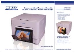 Impresora fotográfica de sublimación de tinta